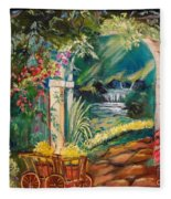 Garden Of Serenity Beyond Fleece Blanket