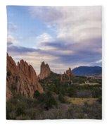 Garden Of The Gods At Sunrise - Colorado Springs Fleece Blanket