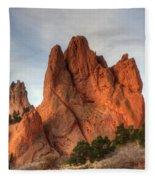 Garden Of The Gods Colorado Fleece Blanket