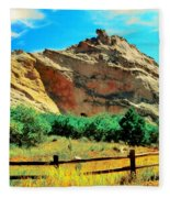 Garden Of The God's-colorado Fleece Blanket