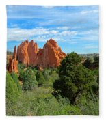 Garden Of The Gods Fleece Blanket