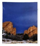 Garden Of The Gods Star Storm Fleece Blanket