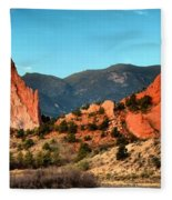 Garden Of The Gods Sunrise Panorama Fleece Blanket