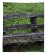 Garden Park Bench Fleece Blanket
