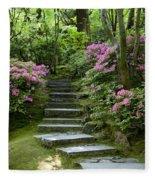 Garden Pathway Fleece Blanket