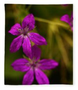 Garden Raindrops Fleece Blanket