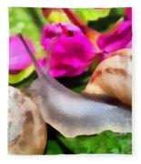 Garden Snails Fleece Blanket