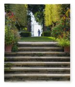 Garden Steps Fleece Blanket