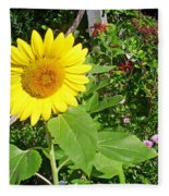 Garden Sunflower Fleece Blanket