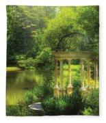 Garden - The Temple Of Love Fleece Blanket