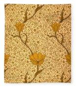Garden Tulip Wallpaper Design Fleece Blanket