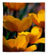Garden Tulips Fleece Blanket