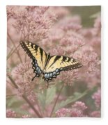 Garden Visitor - Tiger Swallowtail Fleece Blanket
