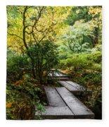 Garden Walkway Fleece Blanket