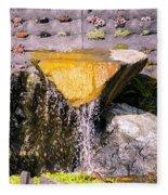 Garden Wall Fleece Blanket