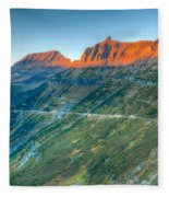 Garden Wall Sunset Fleece Blanket