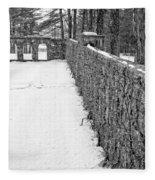 Garden Wall The Mount In Winter Fleece Blanket