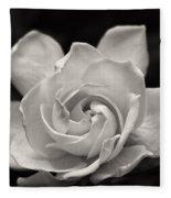 Gardenia Bloom In Sepia Fleece Blanket