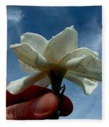 Gardenia For You My Dear Fleece Blanket