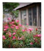 Gardens Of Pink Fleece Blanket