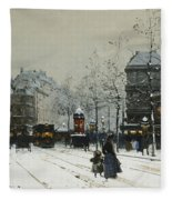 Gare Du Nord Paris Fleece Blanket