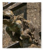Gargoyle On The Church Of St Mary At Sudeley Castle Fleece Blanket