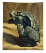 Gargoyle Or Grotesque Profile Fleece Blanket