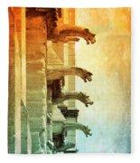 Gargoyles With Textures And Color Fleece Blanket