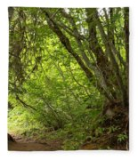 Garibaldi Old Growth Cedars Fleece Blanket