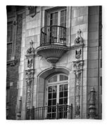 Garrison Hall Window Ut Bw Fleece Blanket