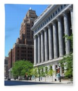 Gas Building And Nml Tall Fleece Blanket
