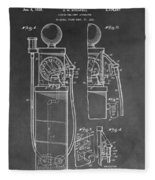 Gas Pump Patent Fleece Blanket
