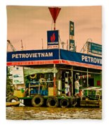 Gas Station Vietnam Style Fleece Blanket