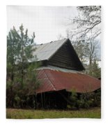 Gaskins Family Barn Series II Fleece Blanket