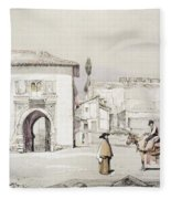 Gate Of The Vine , From Sketches Fleece Blanket