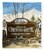 Gateway To Grandeur Fleece Blanket