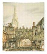 Gateway To The Close, Salisbury Fleece Blanket