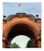 Gateway To Tivoli Gardens Fleece Blanket