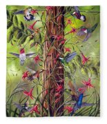 Gathering At The Fencepost Fleece Blanket