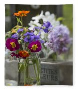 Gathering Wildflowers Fleece Blanket