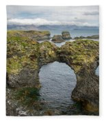 Gatklettur Arch In Hellnar Fleece Blanket