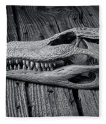 Gator Black And White Fleece Blanket