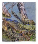Gator Camo Fleece Blanket