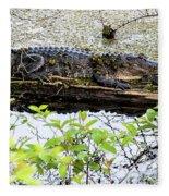 Gator Camoflage Fleece Blanket