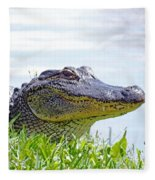 Gator Smile Fleece Blanket