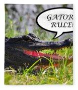 Gators Rule Greeting Card Fleece Blanket