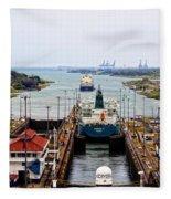 Gatun Locks Panama Canal Fleece Blanket