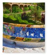 Gaudi's Park Guell - Impressions Of Barcelona Fleece Blanket