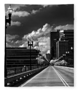 Gay Street Bridge - Knoxville Fleece Blanket