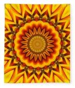 Gazania Kaleidoscope Fleece Blanket